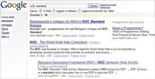 Google il motore di ricerca e risultati di posizionamento