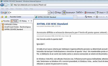 Windows Explorer 7 reader Feed Rss
