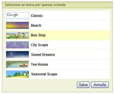 I temi di iGoogle Home Page