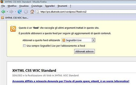 Firefox come lettore Feed Rss