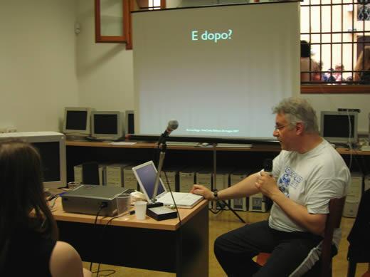 Andrea Beggi al FemCamp di Bologna