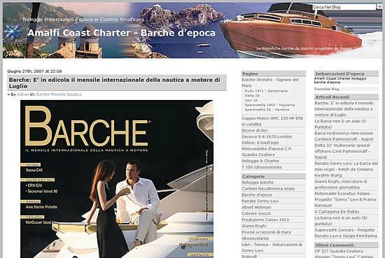 Barche, rivista mensile internazionale della nautica a motore